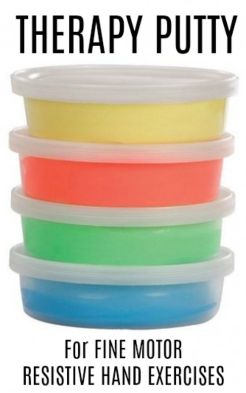 THERAPY PUTTY FOR FINE MOTOR RESISTIVE HAND EXERCISES - GREAT FOR PEDIATRIC OCCUPATIONAL THERAPISTS AND AT HOME THERAPY