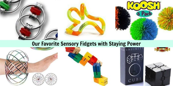 Sensory Fidgets for ADHD, Autism and Sensory Processing Disorder