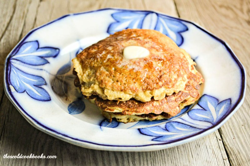 These Easy Swedish Oatmeal Pancakes are great for a quick breakfast or supper. Truth be told, I like them as a dessert with a dollop of peanut butter or your favorite preserves.