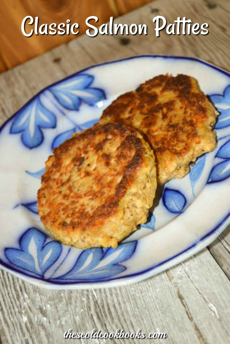 This Classic Salmon Patties recipe uses canned salmon and some cracker crumbs to make a delicious main dish.