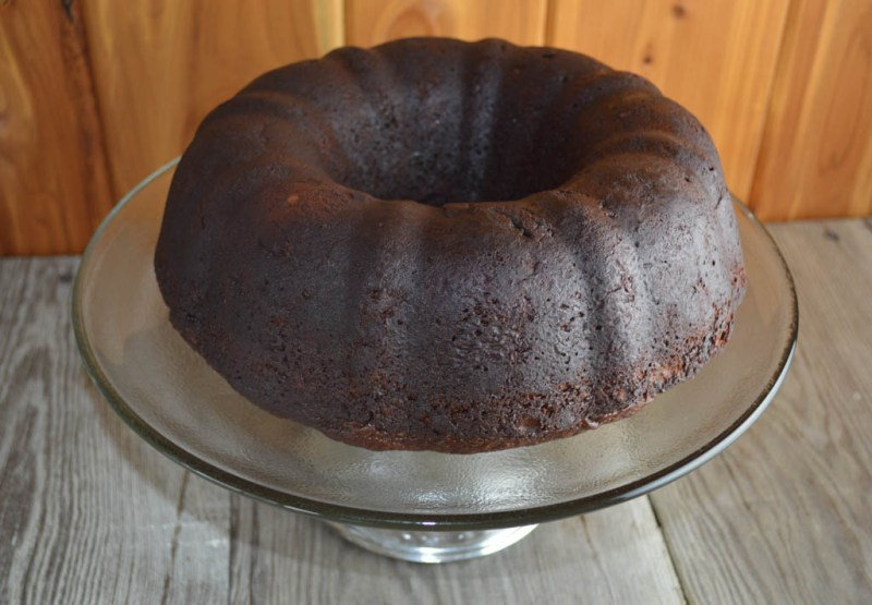 This Easy Triple Chocolate Cake is made with just five ingredients and mixed in one bowl making it a simple, quick dessert option.