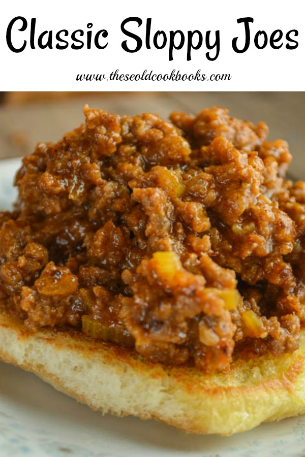 Classic Sloppy Joes are a classic ground beef sandwiches.