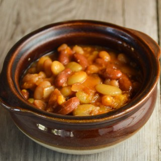These Slow Cooker Baked Beans feature three kinds of bean that adds something extra to the classic flavor of the traditional baked beans recipe.