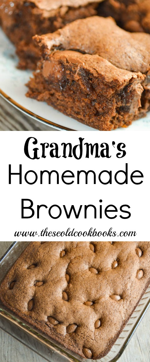 With six key ingredients that are always in the pantry, Grandma's Homemade Brownies are simple to make and delicious to eat.