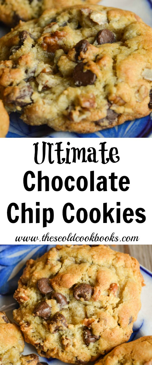 When you need a new go-to cookie recipe, try these Ultimate Chocolate Chip Cookies which are chock-full of chocolate chips and pecans.