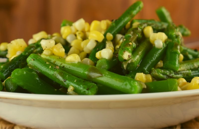 Summer Asparagus Salad is the perfect side salad featuring fresh asparagus, corn and a homemade vinaigrette. Asparagus Salad with Vinaigrette is a quick recipe that everybody loves.