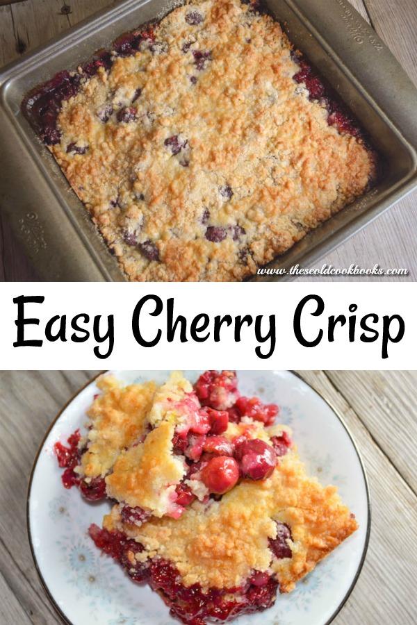 Cherry Crisp Dessert uses fresh cherries to create a delicious dish.