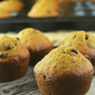 All Bran Pumpkin Muffins are an easy pumpkin muffin with chocolate chips. They taste great and are high in fiber.