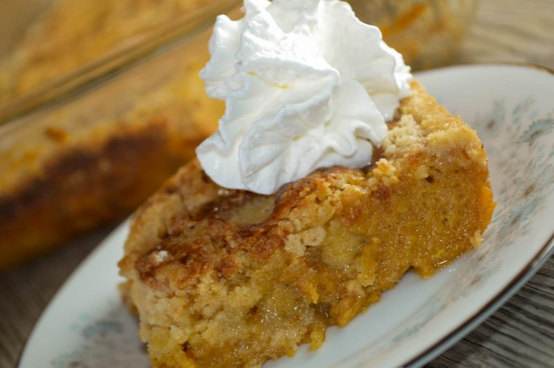 With a crisp topping and a dollop of whipped cream, this Pumpkin Crunch - made with a cake mix - is a perfect dessert for a crowd.