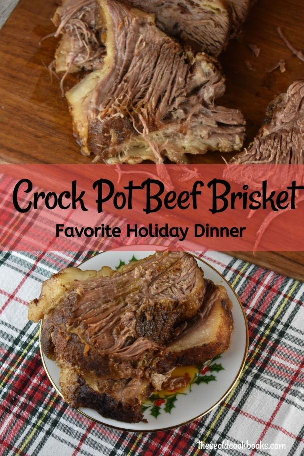 This Crock Pot Beef Brisket, which takes minutes to prep, will make you look like a superstar this season when you serve it as part of your holiday menu.