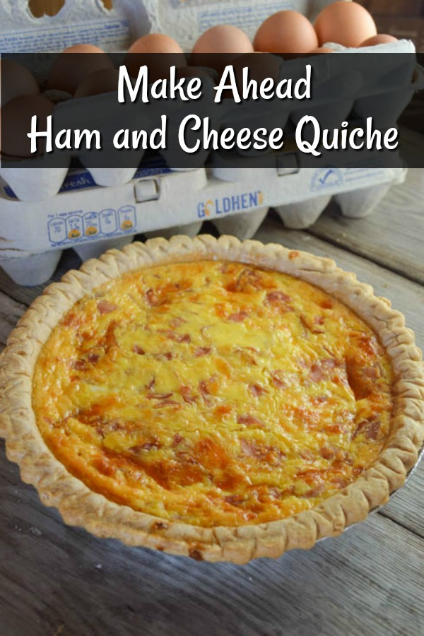 Make Ahead Ham and Cheese Quiche is easily customizable and perfect for breakfast, brunch or lunch.