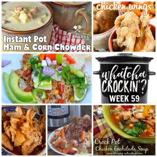 This week's Whatcha Crockin' crock pot recipes include Slow Cooker Pulled Chicken, Instant Pot Ham and Corn Chowder, Crock Pot Chicken Enchilada Soup, Instant Corned Beef and Cabbage, Gramma's Beef Barley Soup, Instant Pot Pork Ribs, Crock Pot Chicken Wings, Crock Pot Chicken Taco Bowls, and many more!