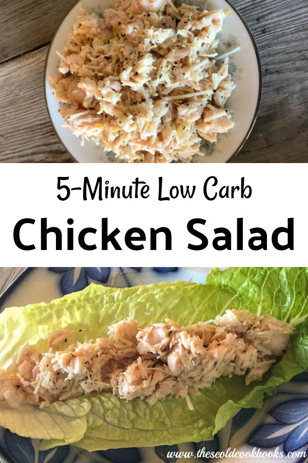 Sometimes eating healthier really is easy, like with this 5-Minute Low Carb Lemon Chicken Salad which is perfect served on your favorite type of lettuce. By using canned chicken, you can whip this dish up in no time.