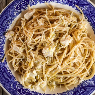 This 10-Minute Easy Lemon Chicken Pasta is the perfect weeknight meal. By using canned chicken, leftover grilled or rotisserie chicken, this meal an be on the table in just minutes.