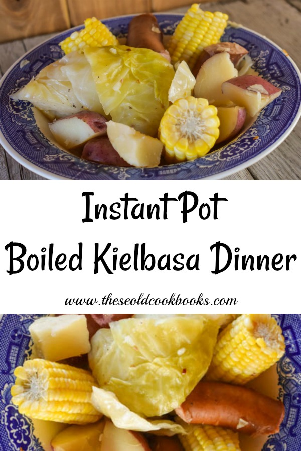 Instant Pot Boiled Kielbasa Dinner Recipe With Cabbage