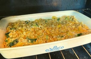 Cheesy Summer Squash and Zucchini Casserole is a great use of all of the summer garden bounty. This easy cheesy squash casserole has a buttery, crunchy top and a cheesy filling. Y