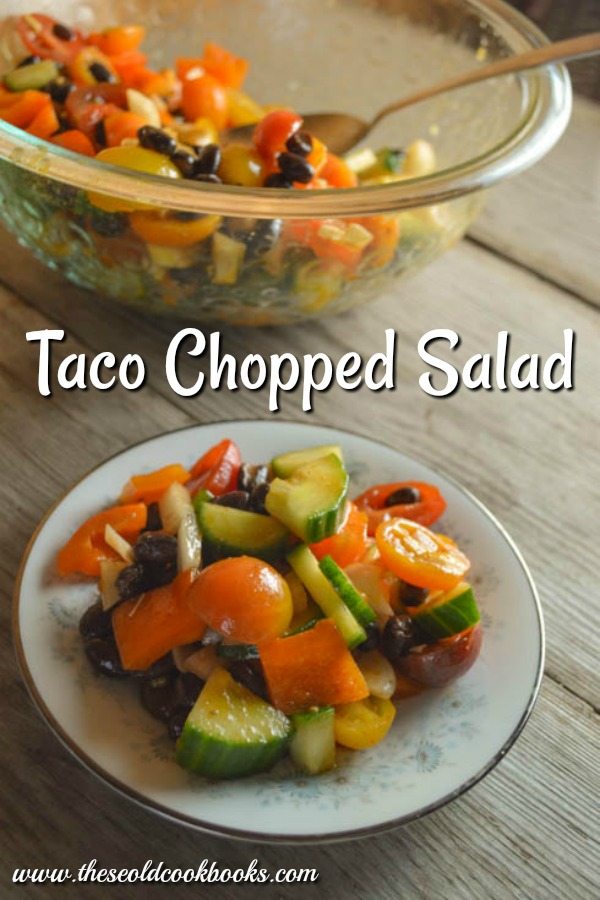 Taco Chopped Salad is a perfect side dish option for everything from steak to burgers to enchiladas and beyond.