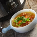 This Instant Pot Vegetable Soup recipe features the flavors of lemon and ginger and takes less than an hour from prep to table.