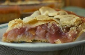 Grandma's Rhubarb Pie is rustic but so delicious.