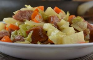 Skillet Smoked Sausage and Cabbage is a quick meal consisting of a buttery blend of cabbage, sausage, potato.