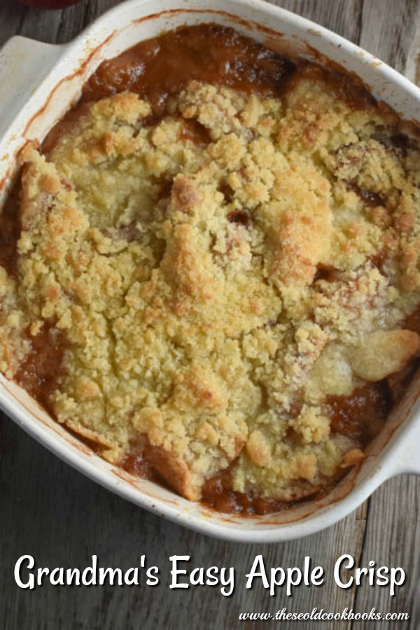 This Easy Apple Crisp comes straight from grandma's recipe box. It is easy to make and always a hit.