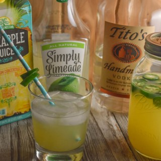Jalapeno Pineapple Limeade with vodka cocktail is a fun summer drink .