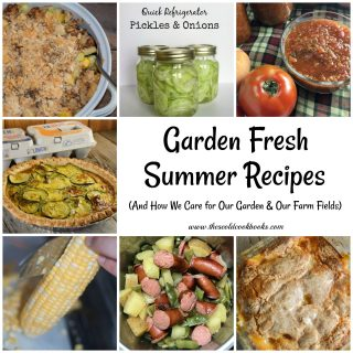 These Garden Fresh Summer Recipes use vegetables (and fruits) that many of us often grow each summer, but the recipes are perfect for your table all year round. From fresh salads to yummy desserts, summer vegetables are the perfect ingredient in so many dishes.