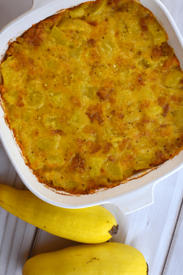 Kentucky Southern Squash Casserole is the perfect way to turn those yellow squash into a family friendly side dish. Starring butter crackers and cheese, it's the perfect combination of flavor and texture. This recipe will soon become a summer staple.