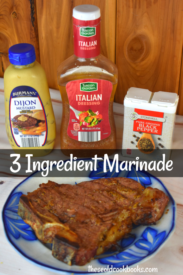 We have the easiest 3 ingredient steak marinade for you, and we are betting you already have the ingredients on hand---ground black pepper, bottled Italian dressing, and Dijon mustard. Your steak with be tender and flavorful every single time.
