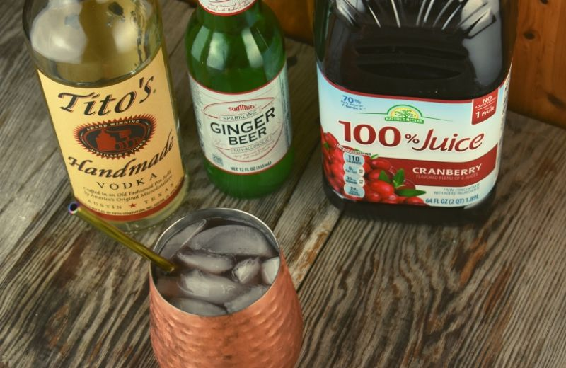 What do you get when you combine a traditional Cape Codder and a Moscow Mule?  They marry together for a perfect Cranberry Moscow Mule made with only 4 simple ingredients.