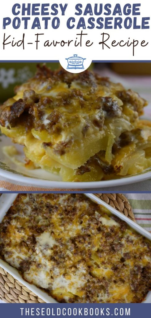 Potato Sausage Casserole consists of layers of sliced potatoes, ground pork sausage, and shredded cheese covered in a basic white sauce. Creamy Sausage Potato Bake is an easy casserole that is reminiscent of what Mom or Grandma would serve.