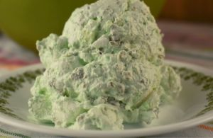 Watergate Salad (also known as Pistachio Fluff) is a delightful, vintage salad packed with Pistachio flavor.  With only 5 simple ingredients, this fluffy treat will quickly become a most-requested recipe.