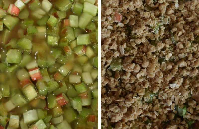 Trying to decide how to use up that spring rhubarb? Look no farther than Rhubarb Crumble with Oats.  This old fashioned recipe is just like Grandma used to serve.