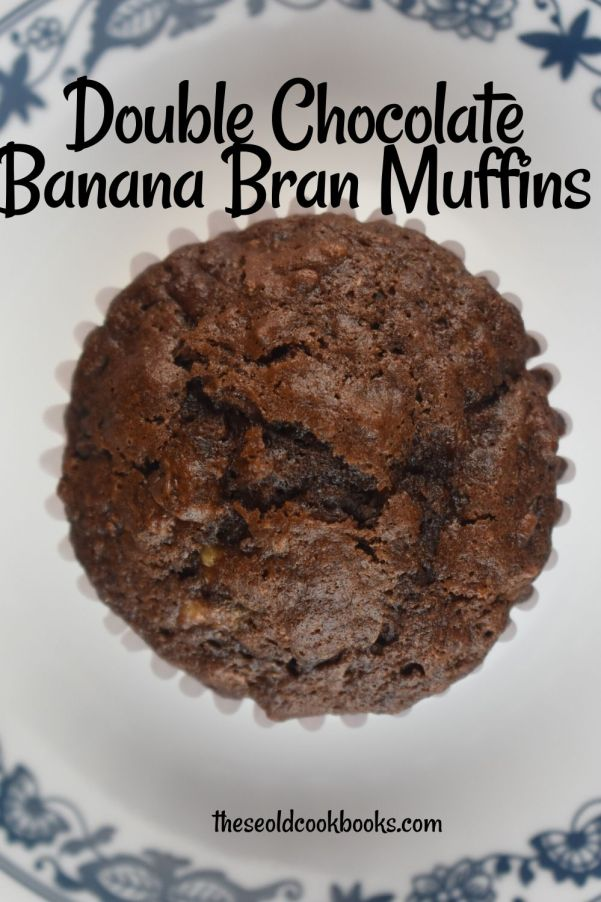 Whether you are looking for breakfast, dessert or a snack, Double Chocolate Banana Bran Muffins will check the box.  Made with All-Bran cereal and mashed bananas, you don't have to feel guilty this double dose of chocolate.