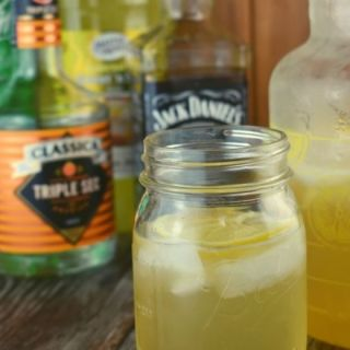 Looking for a new simple whiskey cocktail? Lake Lemonade is just that, an easy combination of four ingredients that tastes like lemonade with a special little surprise.  It's cool and refreshing making it the perfect weekend drink.