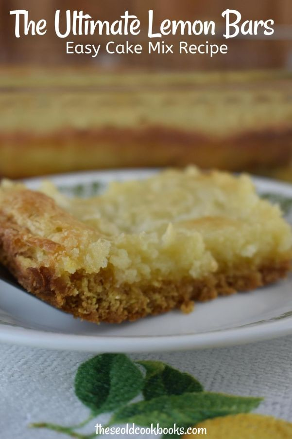 There's only six ingredients between you and a pan of Lemon Cake Mix Gooey Bars. This rich butter cake is simple to make using a boxed cake mix base, yet the outcome is something worthy of a Grand Prize.