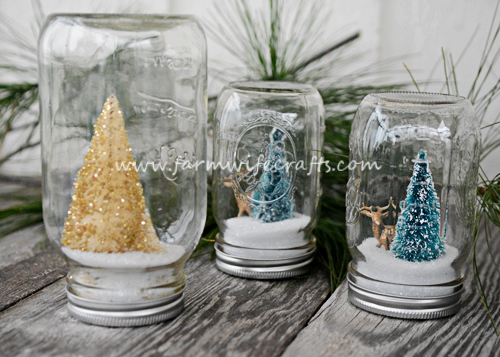 These DIY Snow Globes are a perfect handmade gift idea that your kids can help make.