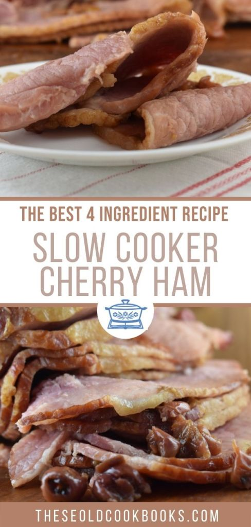 Crock Pot Cherry Ham is double the cherry flavor with an easy cherry glaze made of Cherry Pie Filling, Cherry Cola and brown sugar.  Don't forget to turn on the Crock Pot, and in 6 short hours, you'll have a sweet ham fit for any holiday.