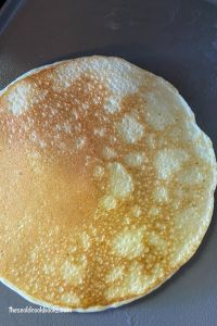 Cottage Cheese Pancakes use 4 ingredients to make a thin pancake perfect to be topped, rolled, folded or filled. Cottage cheese, eggs, Bisquick and milk are blended up for a high-protein breakfast.