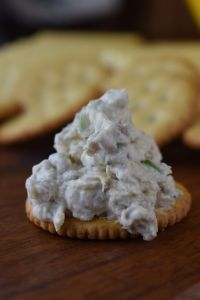 Pineapple Cream Cheese Dip is a crunchy cheese dip filled with pecans, water chestnuts and pineapple, the perfect topping for your favorite crackers.