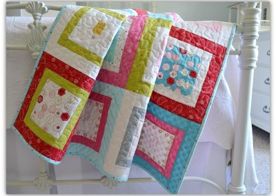 Sew Stitchy Square Frames Quilt