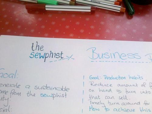 Handwritten business plan