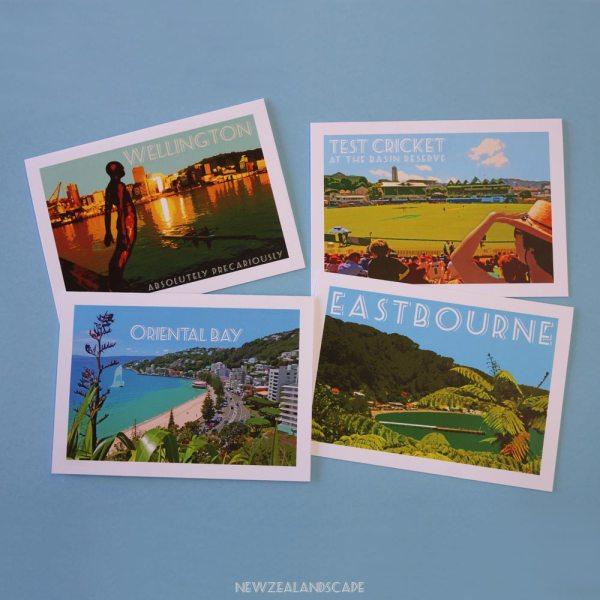 Wellington greeting cards - set of 4