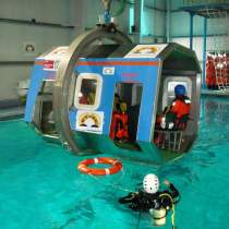 Helicopter pilot survival drill