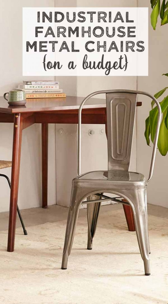 Industrial Farmhouse Style Chairs On A Budget