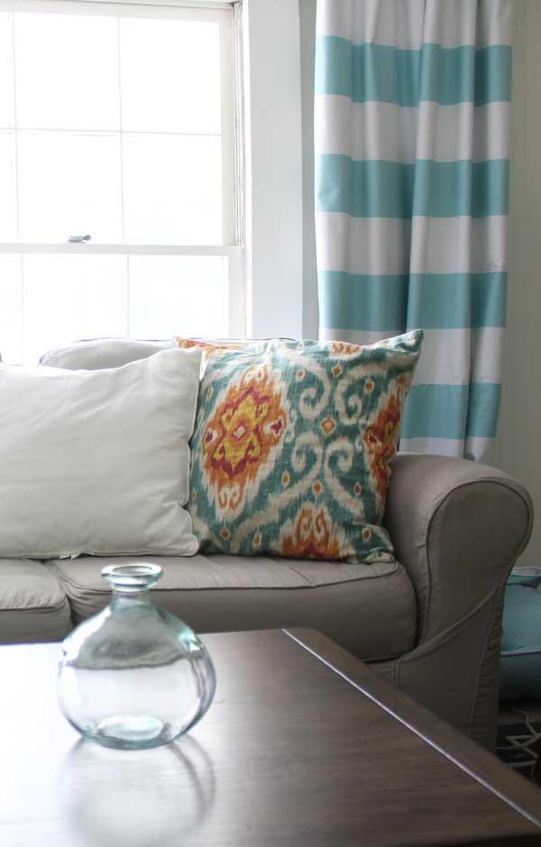 How To Make Horizontal Striped Curtains