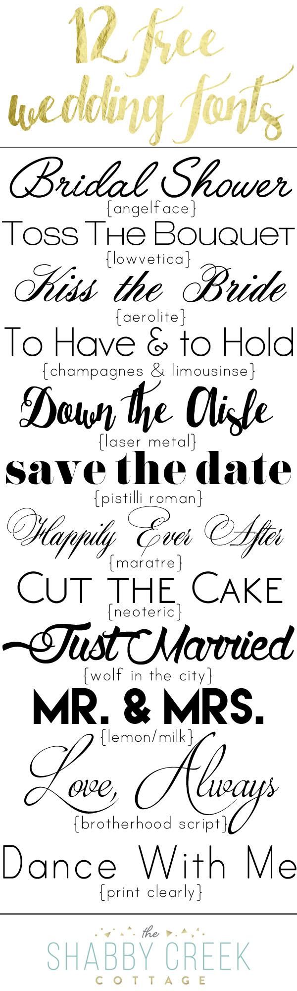 free wedding fonts # 13