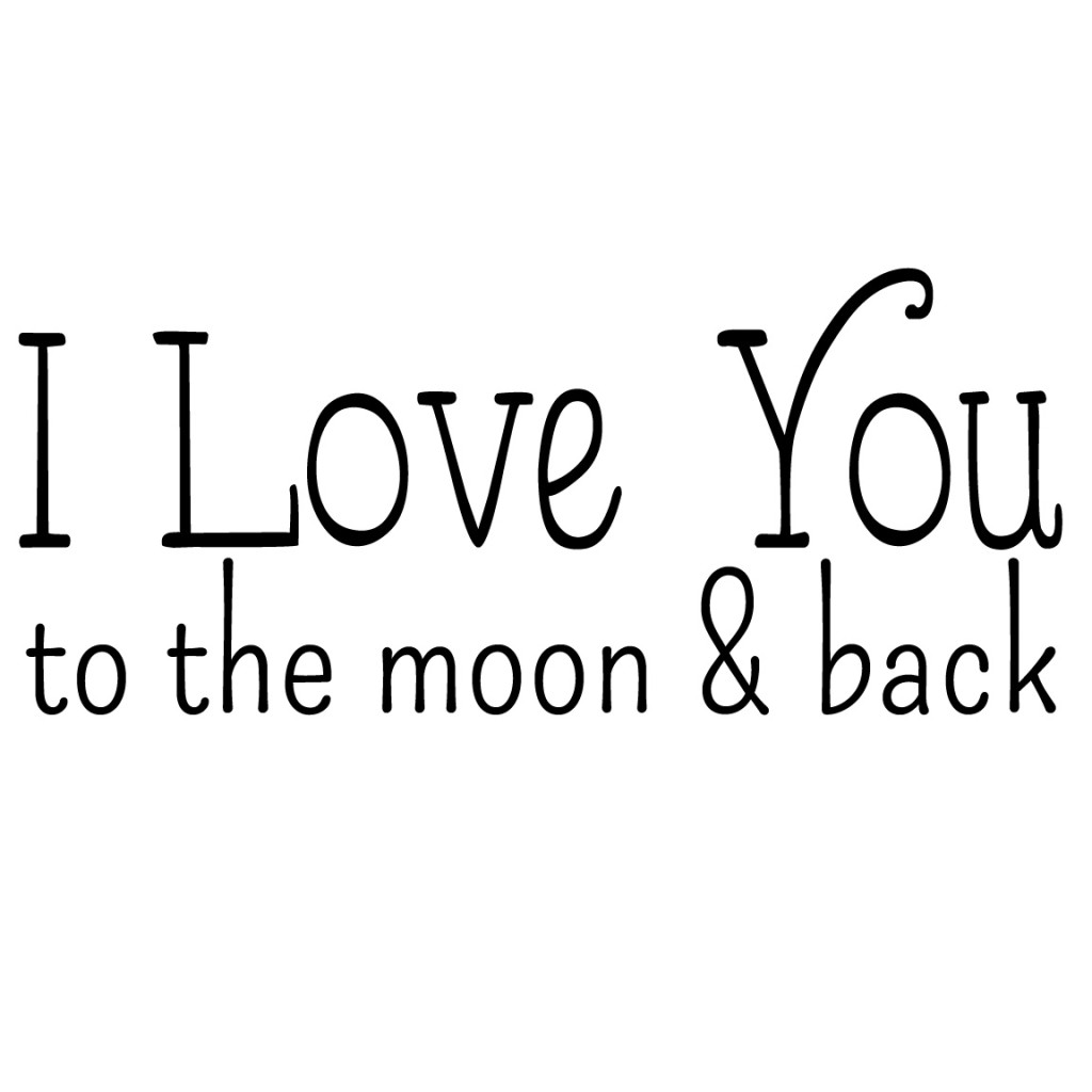 I Love You To The Moon And Back Pillow Free Graphic For Diy
