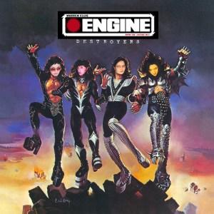 Artist's rendition of four of the Engine moderators. Melinda, Jessica, Rachel, Maddie. (Attribution lost.)