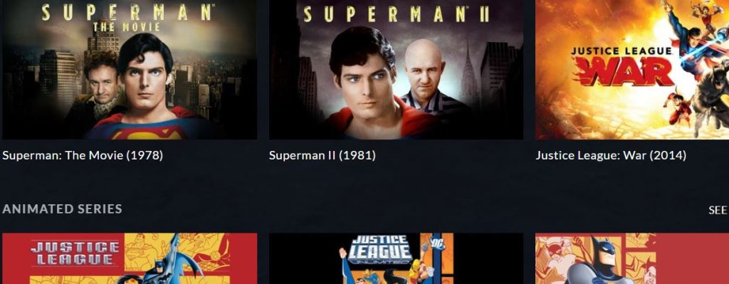 DC Universe subscription movies